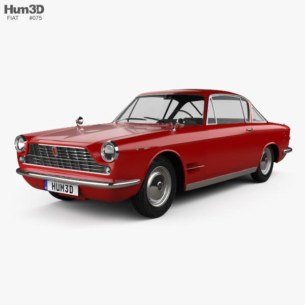 Fiat 2300 S coupe 1961 3D model