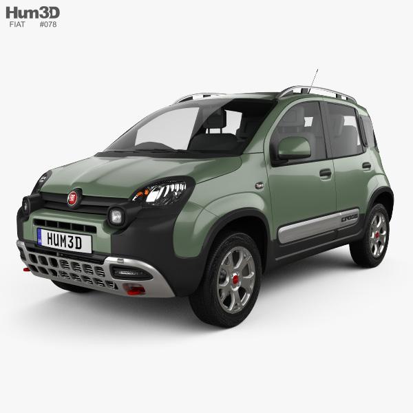 3D model of Fiat Panda Cross 2014