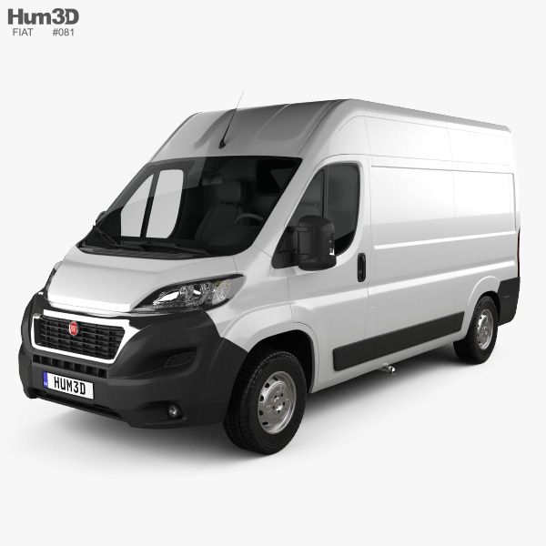 3D model of Fiat Ducato Panel Van L2H2 2014
