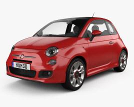 3D model of Fiat 500 Sport 2014