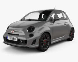 3D model of Fiat 500 Turbo 2014