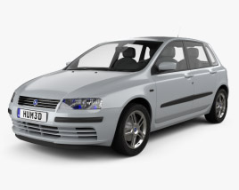 3D model of Fiat Stilo 5-door 2001
