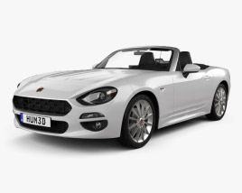 3D model of Fiat 124 Spider 2017