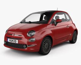 3D model of Fiat 500 2015