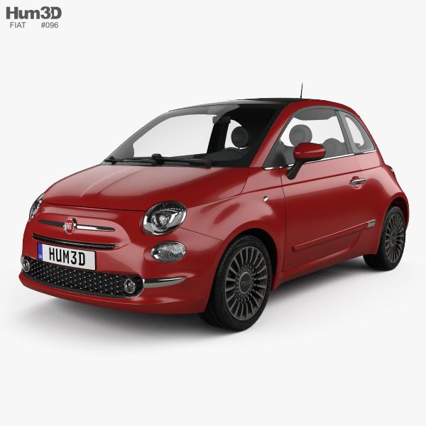Fiat 500 2015 3D model