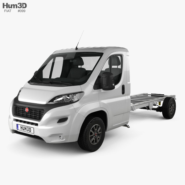 3D model of Fiat Ducato Single Cab Chassis L4 2014
