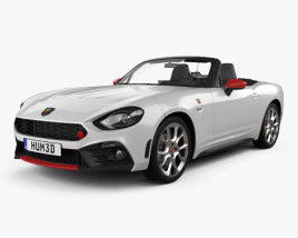 3D model of Fiat 124 Spider Abarth 2017