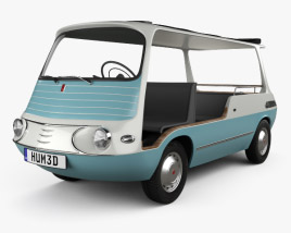 3D model of Fiat 600 Multipla Marinella 1958