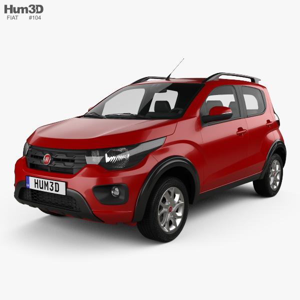 Fiat Mobi Way On 2017 3D model