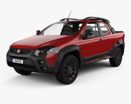 3D model of Fiat Strada Adventure CD Extreme 2015