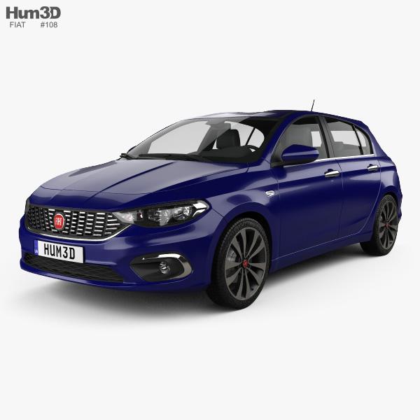 Fiat Tipo hatchback 2017 3D model