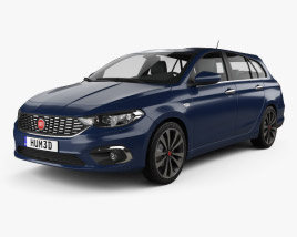 3D model of Fiat Tipo station wagon 2017