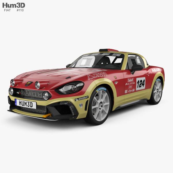 Fiat 124 Abarth Rally 2016 3D model