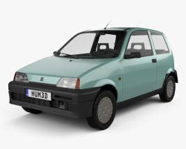 3D model of Fiat Cinquecento 1991