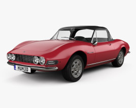 3D model of Fiat Dino Spider 2400 1969