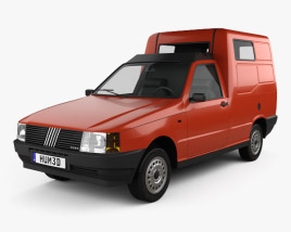 3D model of Fiat Fiorino Panel Van 1988