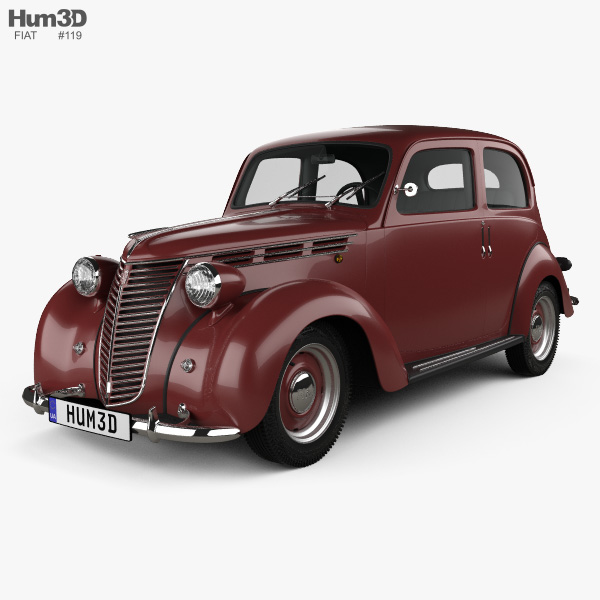 Fiat 1100 B 1949 3D model