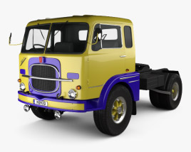 3D model of Fiat 682 N3 Tractor Truck 1962