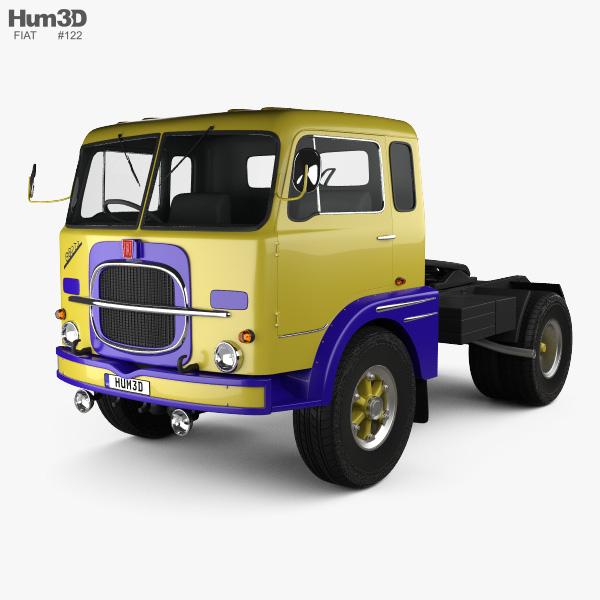 Fiat 682 N3 Tractor Truck 1962 3D model