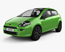 3D model of Fiat Punto TwinAir 5-door 2012
