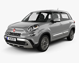 3D model of Fiat 500L Cross 2017
