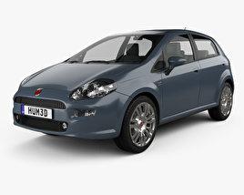 3D model of Fiat Punto 5-door 2012