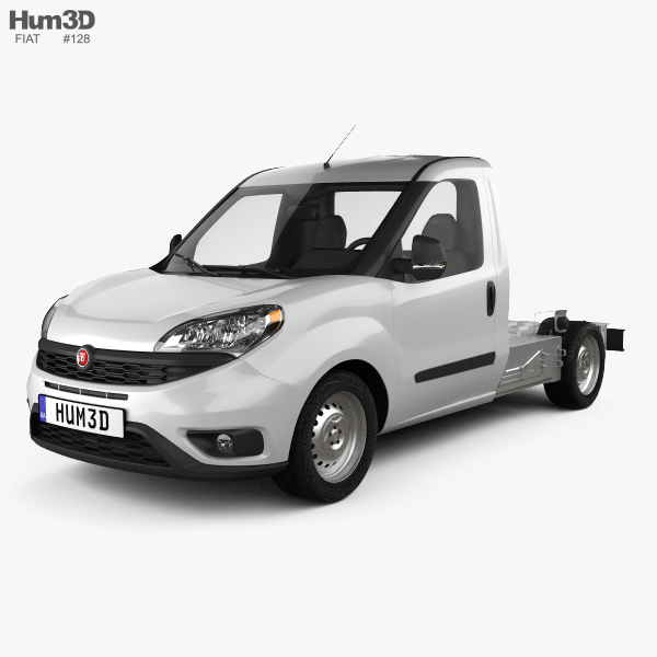 3D model of Fiat Doblo Chassis L2 2015