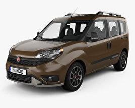 3D model of Fiat Doblo Trekking 2015