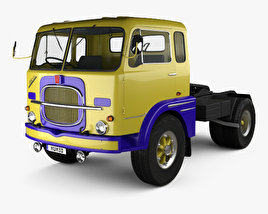 Fiat 682 N3 Tractor Truck with HQ interior 1962 3D model