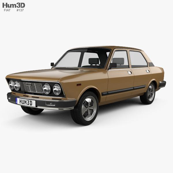 Fiat 132 1977 3D model