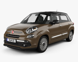 3D model of Fiat 500L hatchback 2017