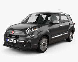 3D model of Fiat 500L Wagon 2017