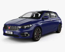 Fiat Tipo hatchback with HQ interior 2017 3D model