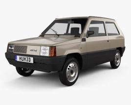 3D model of Fiat Panda 30 1980