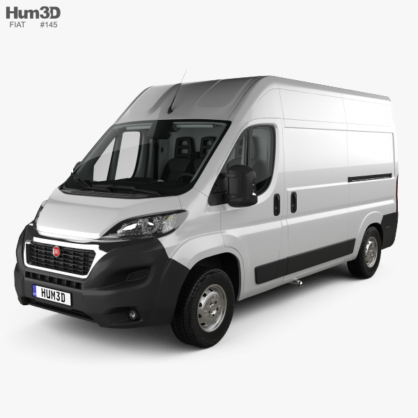 3D model of Fiat Ducato Panel Van L2H2 with HQ interior 2014