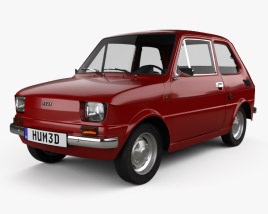 3D model of Fiat 126 with HQ interior 1976