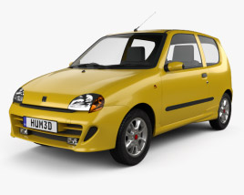 3D model of Fiat Seicento Sporting Abarth 1998