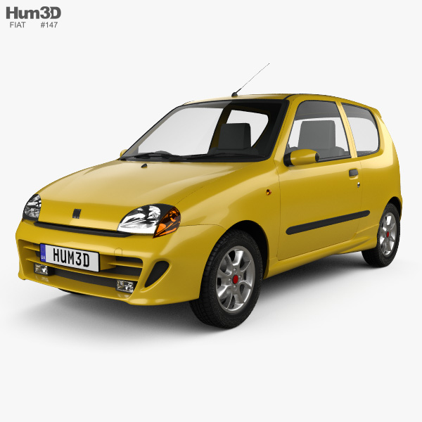 Fiat Seicento Sporting Abarth 1998 3D model