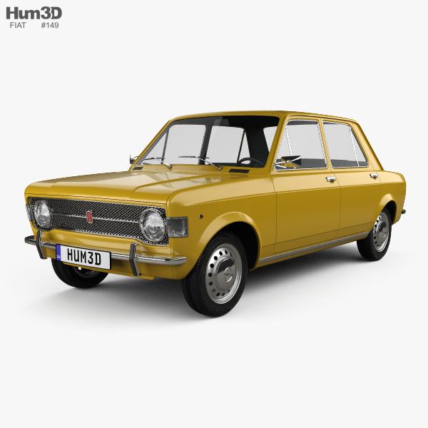 Fiat 128 1969 3D model