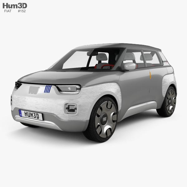 Fiat Centoventi with HQ interior 2019 3D model