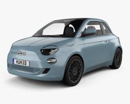 3D model of Fiat 500 la Prima France cabriolet 2020