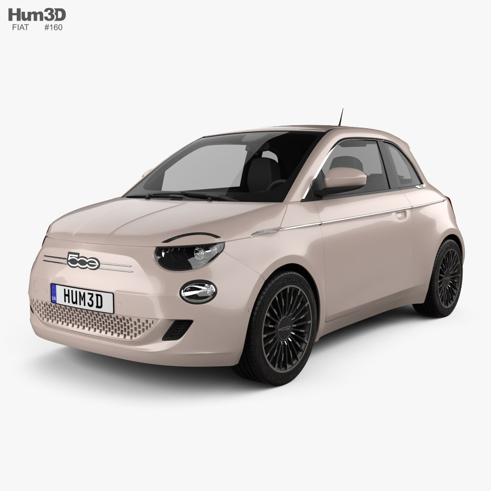 3D model of Fiat 500 3+1 2020