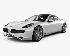 3D model of Fisker Karma 2012