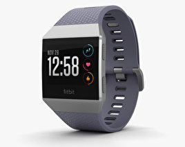 3D model of Fitbit Ionic Silver Gray