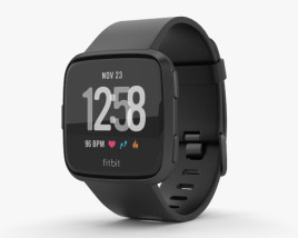 3D model of Fitbit Versa Black