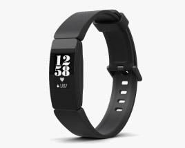3D model of Fitbit Inspire HR Black
