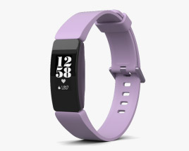 3D model of Fitbit Inspire HR Lilac