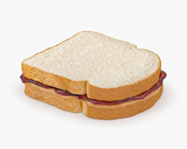 3D model of Peanut Butter And Jelly Sandwich