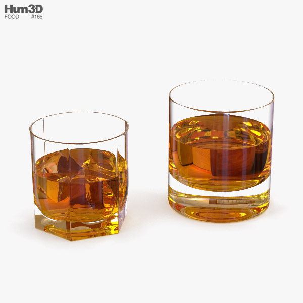 Whiskey Glasses 3D model