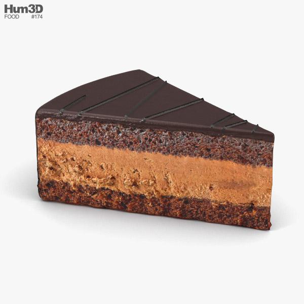3D model of Chocolate Cake